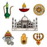 Indiańskie kultury i religii ikony royalty ilustracja