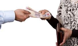 Indiańskie rupie Zdjęcie Royalty Free