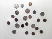 Indiańskie Stare walut monety obrazy royalty free
