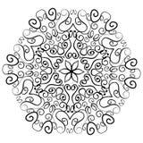Indiańskiego ornamentu kalejdoskopowy kwiecisty mandala Obrazy Stock