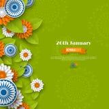 Indiańskiego republika dnia wakacyjny projekt fotografia royalty free