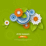 Indiańskiego republika dnia wakacyjny projekt zdjęcia stock