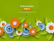 Indiańskiego republika dnia wakacyjny projekt zdjęcie royalty free