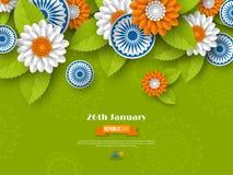 Indiańskiego republika dnia wakacyjny projekt obraz stock