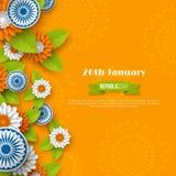 Indiańskiego republika dnia wakacyjny projekt obrazy stock