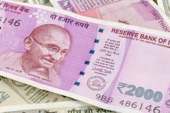 Indiańskiej waluty Nowe notatki Fotografia Stock