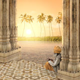 india solnedgång Royaltyfria Bilder