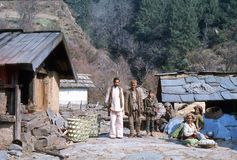 1977. India. Some friendly villagers in Hurri. Royalty Free Stock Image