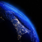 India from space Stock Photos