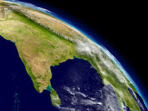 India from space Royalty Free Stock Images