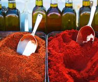 India Spice in market Stock Image
