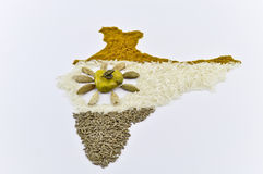 India spice map2 Stock Photography