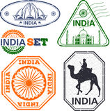 India stamps set Stock Images
