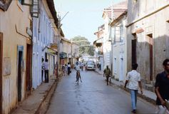 1977. India. Street scene from Panjim. royalty free stock images