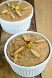 India suji  Halwa. India suji Halwa(pudding) made from semolina,butter and Sugar Stock Photography