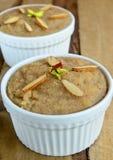 India suji  Halwa. India suji Halwa(pudding) made from semolina,butter and Sugar Stock Images