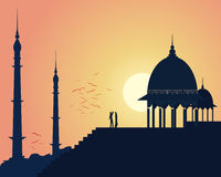 India sunset Stock Photography