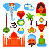 India symbols set Royalty Free Stock Images