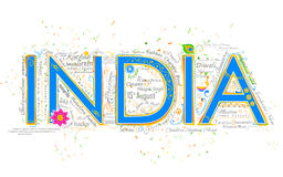 India tła typografia Obrazy Royalty Free