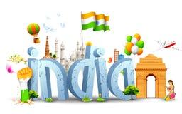 India tło ilustracji
