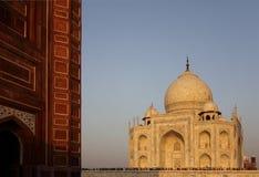 India: Taj Mahal. Sunset view to the Taj Mahal in Agra, India Stock Photography