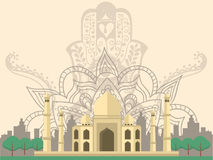 India Taj Mahal vector illustratie