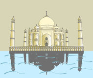 India, Taj Mahal, Indian palace Stock Photo