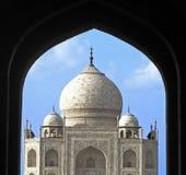 India, Taj Mahal, zevende wonder van de wereld Stock Afbeelding