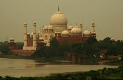 India Taj Sightseeing Mahal Fotos de Stock Royalty Free