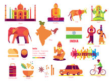 India, Teken en symbool Stock Afbeeldingen