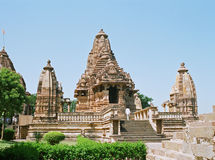 India, Temple in Khajuraho. Stock Photography