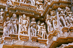 India, Temple in Khajuraho. Stock Photo