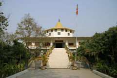 India temple in Lumbini Stock Photos