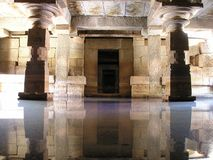 India, Temple, Water, Mirroring Stock Photo