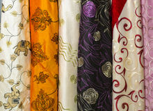 India textile. Close up images of Indian textile fabric. Studio royalty free stock photo