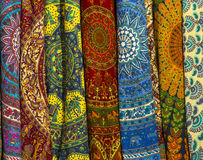 India textile. Close up images of Indian textile fabric. Studio royalty free stock photos