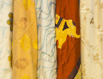 India textile. Close up images of Indian textile fabric. Studio stock photography