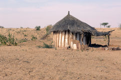 India, Thar desert: traditional house Stock Photos