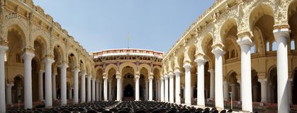 India. Thirumalai Nayakkar Mahal palace complex Royalty Free Stock Photography