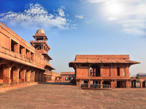 India. The thrown city of Fatehpur Sikri. Royalty Free Stock Photos