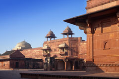 India. The thrown city of Fatehpur Sikri. Royalty Free Stock Photo