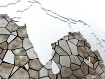 India on translucent Earth Royalty Free Stock Photography