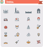 India travel icon set Stock Photography