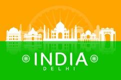 India Travel Landmarks. Royalty Free Stock Image