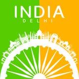 India Travel Landmarks. Stock Image