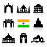 India Travel Landmarks. Royalty Free Stock Images