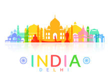 India Travel Landmarks. Stock Image