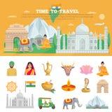 India Travel Set Royalty Free Stock Images