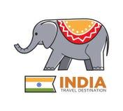 indian hindu template elephant design stock vector illustration of leaf henna 22973871. Black Bedroom Furniture Sets. Home Design Ideas