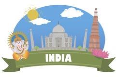 india Turism och lopp royaltyfri illustrationer